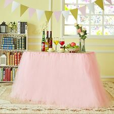 Marry Acting Improved Tutu Tulle Table Skirt Table Cover Cloth Skirting for New