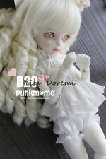 Bjd Doll Wig 1/3 8-9 Dal Pullip AOD AE SD DOD LUTS Dollfie white Curly Toy Hair