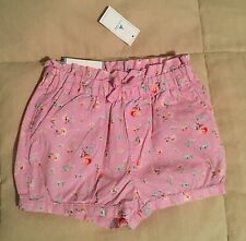 Baby Gap Baby Girl 3T Pink Bubble Shorts With Flowers New With Tags
