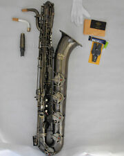 Professional Taishan Antique Eb Baritone Sax Saxophone 2neck+ Germany mouthpiece