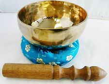 E805 Energetic Throat G Chakra Healing Hand Hammered Tibetan Singing Bowl 5""