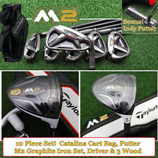 TaylorMade M2 10pc Package Set w/Graphite Irons Driver Fwy Bag&Putter Stiff NEW