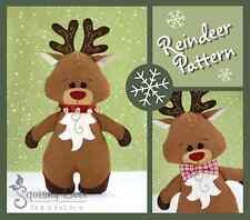 Reindeer Sewing Pattern - Stuffed Animal Rudolph Plushie Pattern & Tutorial
