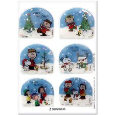 Snoopy Hallmark Peanuts Christmas Puffy Stickers set if 12 3D