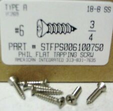 #6x3/4 Flat Head Phillips Tapping Screws Stainless Steel (60)