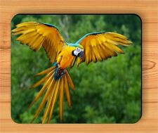 BIRD PARROT FLYING IN WILD JUNGLE TREES MOUSE PAD -tyh6Z