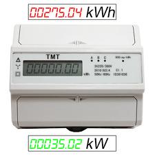 THREEPHASE WATTMETER ENERGY METER RAIL MOUNT kW  3x 220/230V 380V-400V n.MID ZS4