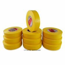 "10 Rolls Yellow Vinyl PVC Electrical Tape 3/4"" x 66' Adhesive - Free Shipping"