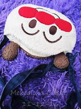 "7"" Rare 2 Faces Baikinman Japanese Anpanman BAG Purse Soft Fuzzy Japan Cartoon"