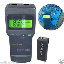 5E 6E SC8108 CAT5 RJ45 Network LAN Length Cable Tester Meter GRAY