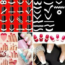 18pcs/set  Fringe Guides Manicure Form Stencil French Tips Nail Art Stickers