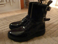Mens BALMAIN / H&M BLACK BOOTS Size UK 10 / 44 WORN ONCE