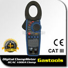 Digital AC/DC 1000A Clamp Meter Multimeter Thermometer Ohm Diode Resistance