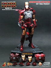 HOT TOYS SIDESHOW EXCLUSIVE IRON MAN MARK III 3 BATTLE DAMAGED 1/6 Masterpiece
