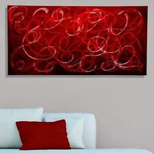 Modern Metal Wall Art Red Contemporary Home Decor - Scarlet Chaos by Jon Allen