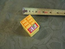 Fisher Price Little People Train Station Load Go Yellow Magazine Rack Book Candy
