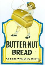 1940/1950's Butter-nut Bread Hanging Advertisement Display Sign