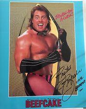 Brutus Beefcake Signed 8x10 Wwe Photo Vintage Wrestling Exact Proof
