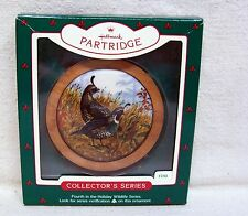 "Hallmark Ornament #4 In The ""Holiday Wildlife"" Series 1985 California Partrige"