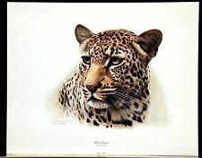 """Charles Frace """" African Leopard Head """"  Signed Limited  RARE BEAUTIFUL 1981"""