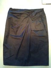 Nanette Lepore Size 6 Cotton Lycra Black Pencil Skirt Sexy Lined Back Button