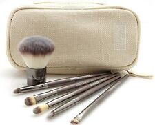 PINSEL SET MAKE-UP BRUSH MIT ETUI 6 LIDSCHATTEN PINSEL KABUKI SUNSHADE MINERALS