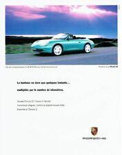 PUBLICITE ADVERTISING 126  1998   la Posche  911 Carrera 4 cabriolet