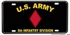 US Army 5th Infantry Division Aluminum License plate