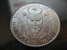 1966 satan devil snowballs in hell Mardi Gras Doubloon Coin new orleans