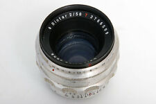 Zeiss Biotar 58mm f2 Lens For Exakta S#3766599