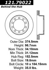 Centric Parts 121.79022 Front Disc Brake Rotor