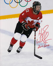 Team Canada 2014 Photo Signed Hayley Wickenheiser 8x10 Ice Hockey Gold Medalist