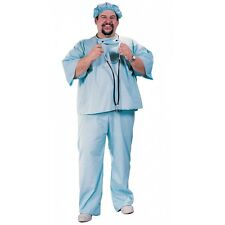 Doctor Costume Adult Mens Blue Surgeon Scrubs Halloween Fancy Dress