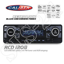 "CALIBER rcd120b FM RDS ""retrò"" Radio CD mp3 USB SD MMC WMA AUTORADIO BLACK"