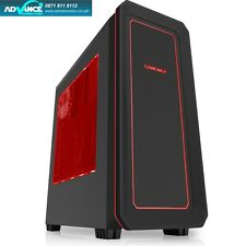 Game Max Vegas Black Gaming PC Case 2 x 12cm Fans 7 Colour LED Facia