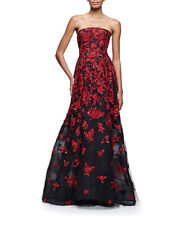 Oscar de la Renta S16 Runway Strapless Sequin Embroidered Tulle Gown 10 $12990
