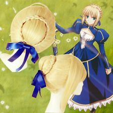 Fate/zero Fate/Stay Night Saber Cosplay Wig with Bow