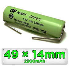 Rechargeable Braun Oral-B Toothbrush Replacement Battery 49mm x 14mm 1.2V NiMH