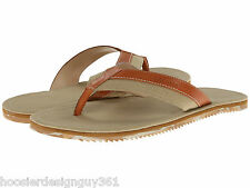 COLE HAAN C12429 Meyer Flip Flop Thong Sandals Men's Fabric Leather Tan 7 M NEW