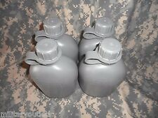 NEW, US 1 QUART COLLAPSIBLE PLASTIC CANTEEN, FOLIAGE GREEN, 4 PACK