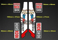 Rock Shox BOXXER 2013 Suspension Fork Decal/Stickers rx25