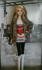 2016 ANDY WARHOL CAMPBELL'S SOUP BARBIE DOLL SILVER LABEL IN TISSUE DKNO4 *NEW*