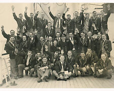 SOUTH AFRICA SPRINGBOKS TOURING TEAM 1952 RUGBY SQUAD PHOTO ON BOARD SHIP