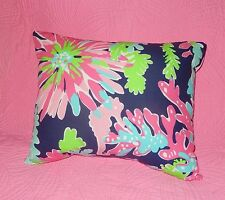 New throw pillow made with LILLY PULITZER Sippin & Trippin by Garnet Hill Fabric