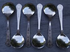 BRAND NEW Soup Spoons King's Pattern x 6 stainless steel