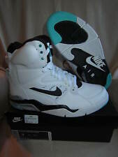 NIKE AIR COMMAND FORCE-Mens Basketball Shoes-Wht/blk/Wolf Gry/Jade-MENS US 9
