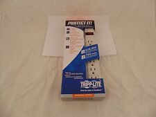 TRIPP LITE TLP604 Surge Suppressor 6 Outlet 4ft White Retail GG4 M