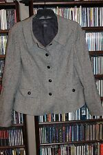 Brooks Brothers 346 Black White Check silk linen Blazer Jacket Ladies 12 (b112)