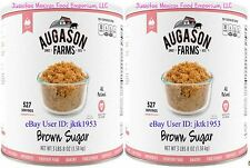 Augason Farms Survival Food TWO PACK BROWN SUGAR INSTITUTIONAL SIZE #10 Can