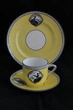 Antique Foley China England Silhouette TRIO TEA CUP SAUCER & DESSERT PLATE